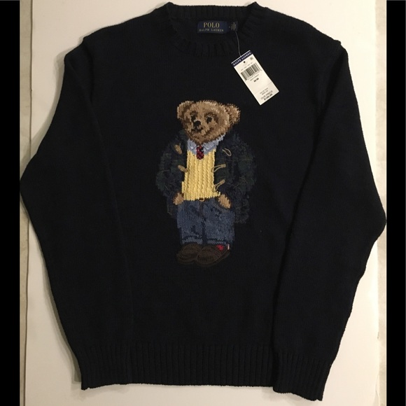 151968a079 Limited Edition polo bear knit sweater NWT